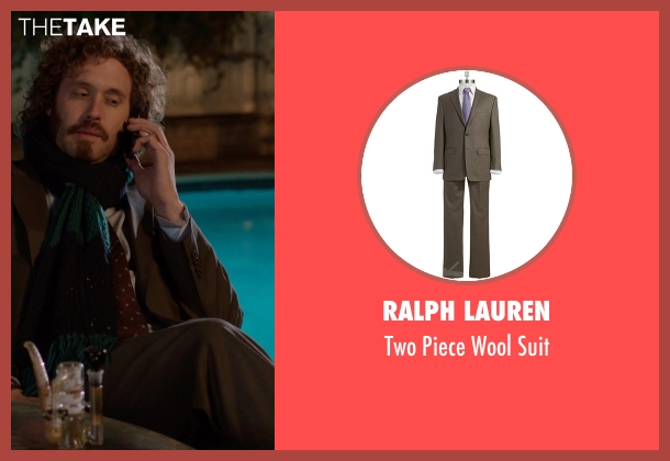 Ralph Lauren brown suit from Silicon Valley seen with Erlich Bachman (T.J. Miller)