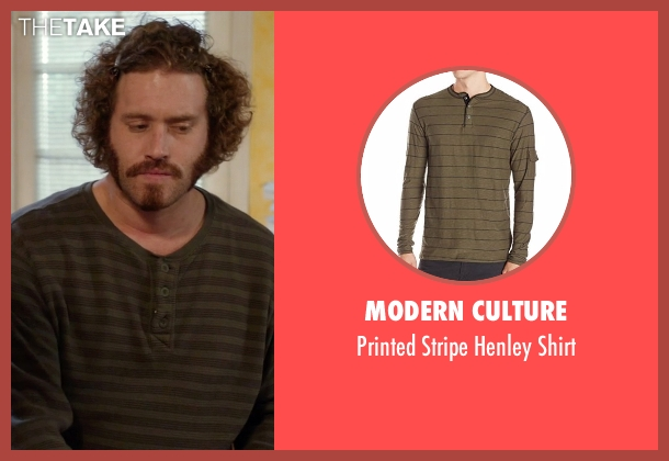Modern Culture green shirt from Silicon Valley seen with Erlich Bachman (T.J. Miller)