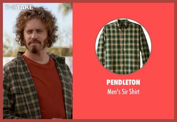Pendleton green shirt from Silicon Valley seen with Erlich Bachman (T.J. Miller)