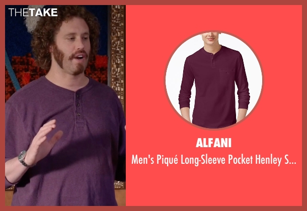Alfani purple shirt from Silicon Valley seen with Erlich Bachman (T.J. Miller)