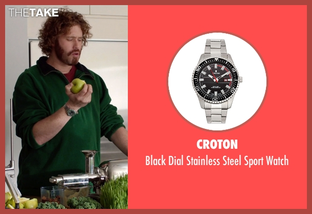 Croton silver watch from Silicon Valley seen with Erlich Bachman (T.J. Miller)