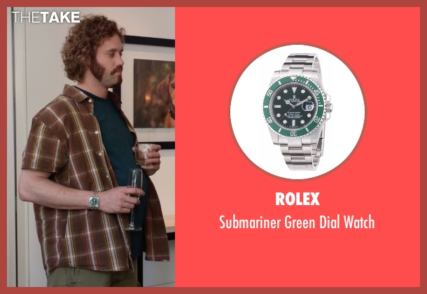 Rolex silver watch from Silicon Valley seen with Erlich Bachman (T.J. Miller)