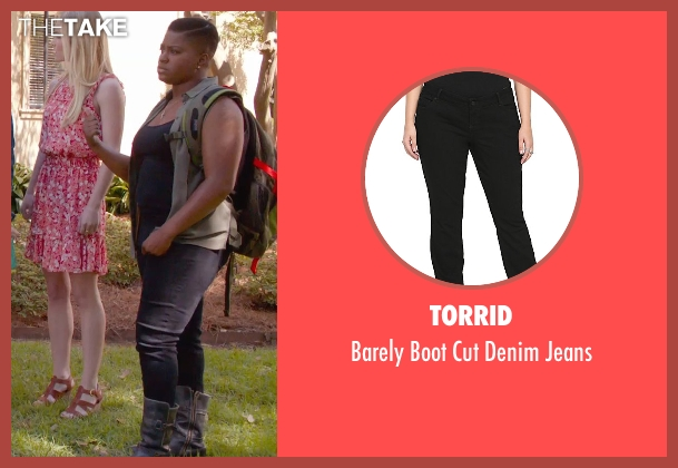 Torrid black jeans from Pitch Perfect 2 seen with Ester Dean (Cynthia-Rose Adams)