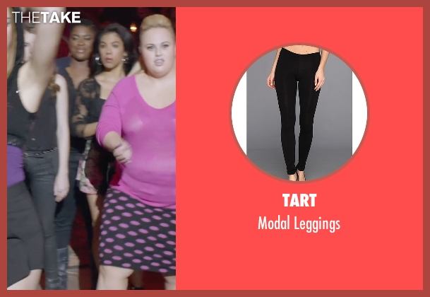 Tart black leggings from Pitch Perfect 2 seen with Ester Dean (Cynthia-Rose Adams)