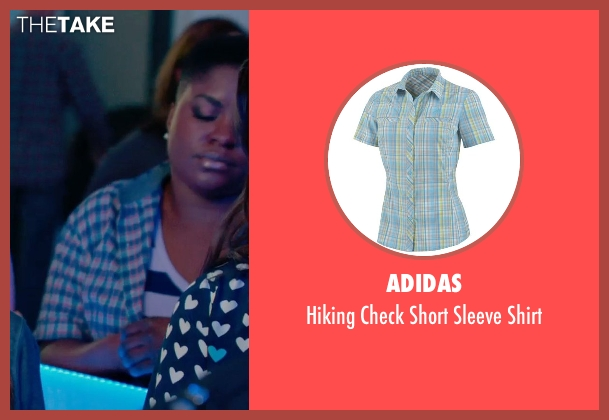 Adidas blue shirt from Pitch Perfect 2 seen with Ester Dean (Cynthia-Rose Adams)