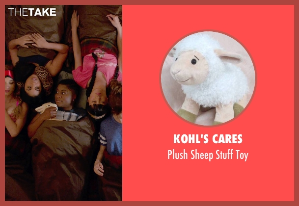 Kohl's Cares toy from Pitch Perfect 2 seen with Ester Dean (Cynthia-Rose Adams)