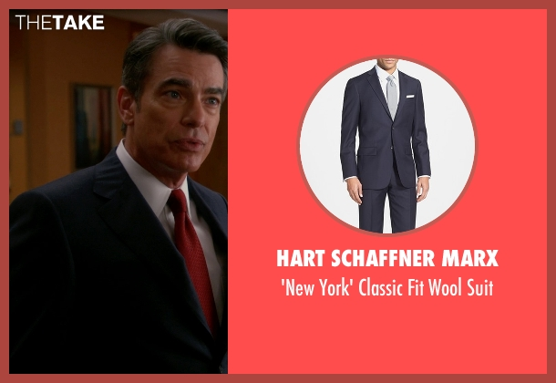 Hart Schaffner Marx blue suit from The Good Wife seen with Ethan Carver (Peter Gallagher)