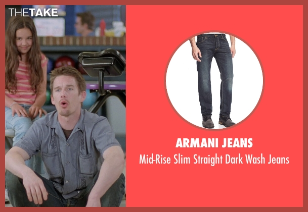 Armani Jeans blue jeans from Boyhood seen with Ethan Hawke (Dad)