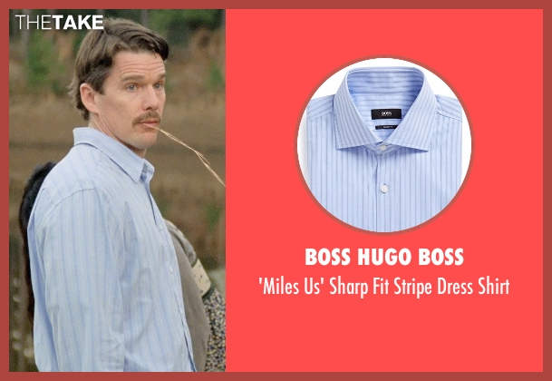 Boss Hugo Boss blue shirt from Boyhood seen with Ethan Hawke (Dad)