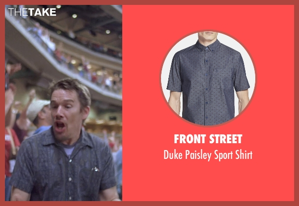 Front Street blue shirt from Boyhood seen with Ethan Hawke (Dad)