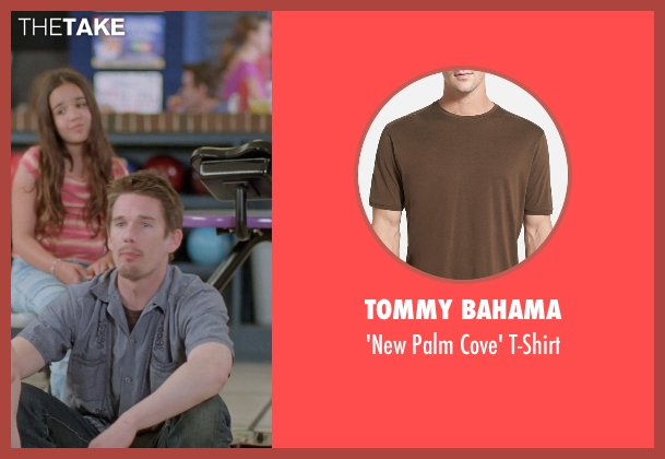 Tommy Bahama brown t-shirt from Boyhood seen with Ethan Hawke (Dad)