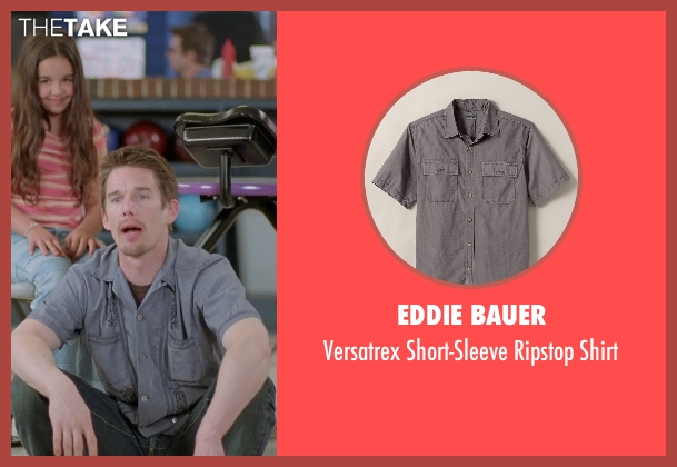 Eddie Bauer gray shirt from Boyhood seen with Ethan Hawke (Dad)