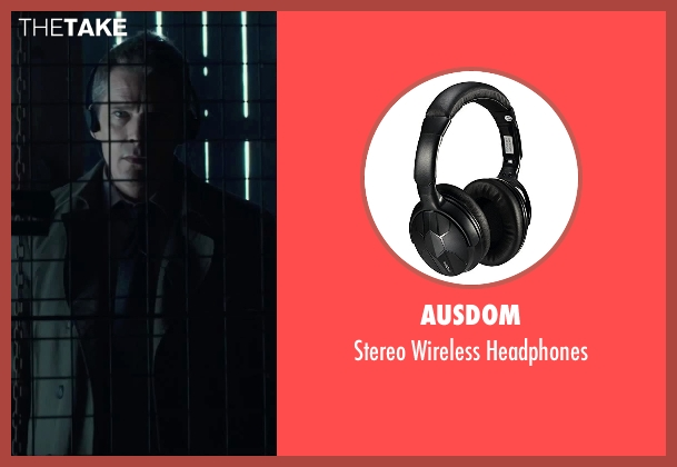 Ausdom black headphones from Regression seen with Ethan Hawke (Bruce Kenner)