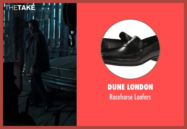 Dune London black loafers from Regression seen with Ethan Hawke (Bruce Kenner)