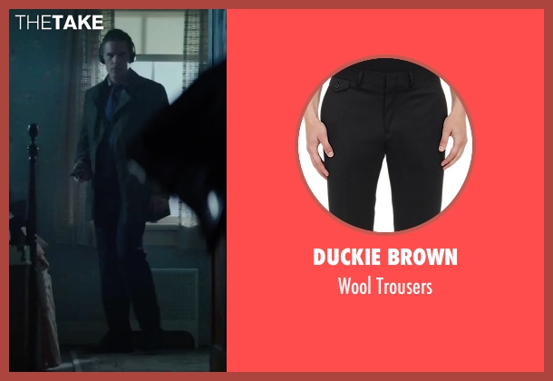 Duckie Brown black trousers from Regression seen with Ethan Hawke (Bruce Kenner)