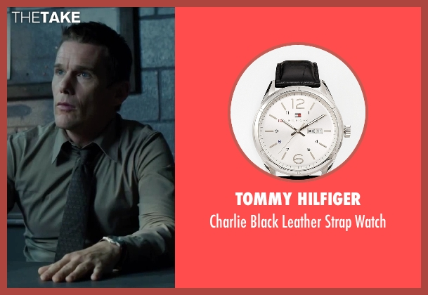 Tommy Hilfiger black watch from Regression seen with Ethan Hawke (Bruce Kenner)