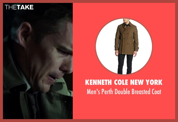Kenneth Cole New York brown coat from Regression seen with Ethan Hawke (Bruce Kenner)