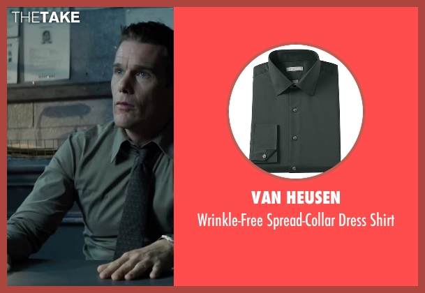 Van Heusen green shirt from Regression seen with Ethan Hawke (Bruce Kenner)