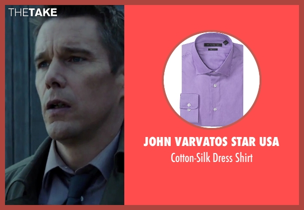 John Varvatos Star USA purple shirt from Regression seen with Ethan Hawke (Bruce Kenner)