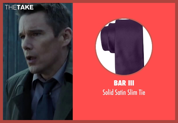 Bar III purple tie from Regression seen with Ethan Hawke (Bruce Kenner)