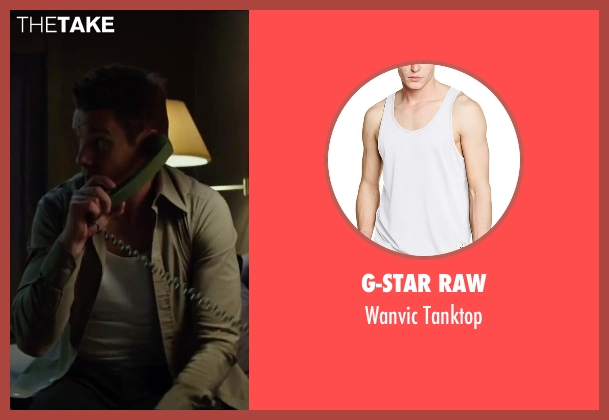 G-Star Raw white tanktop from Regression seen with Ethan Hawke (Bruce Kenner)