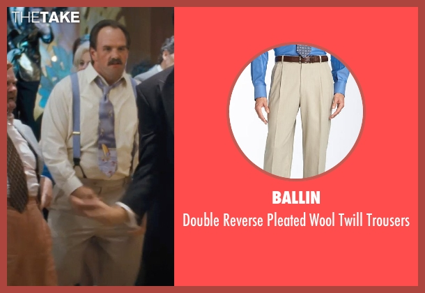 Ballin beige trousers from The Wolf of Wall Street seen with Ethan Suplee (Toby Welch)