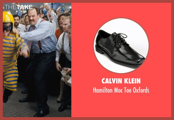 Calvin Klein black oxfords from The Wolf of Wall Street seen with Ethan Suplee (Toby Welch)