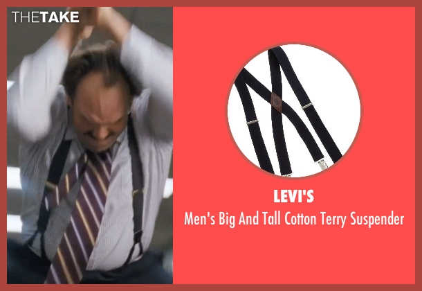 Levi's black suspender from The Wolf of Wall Street seen with Ethan Suplee (Toby Welch)