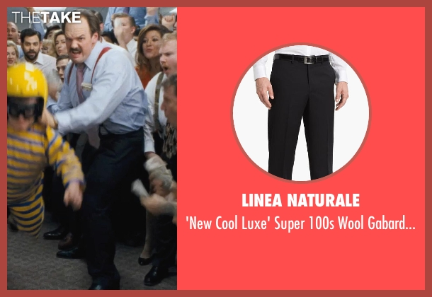 Linea Naturale black trousers from The Wolf of Wall Street seen with Ethan Suplee (Toby Welch)