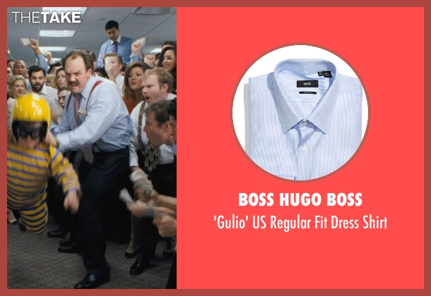 BOSS HUGO BOSS blue shirt from The Wolf of Wall Street seen with Ethan Suplee (Toby Welch)