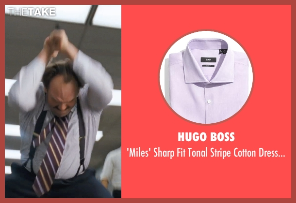 HUGO BOSS purple shirt from The Wolf of Wall Street seen with Ethan Suplee (Toby Welch)