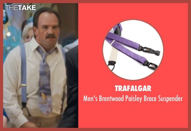 Trafalgar purple suspender from The Wolf of Wall Street seen with Ethan Suplee (Toby Welch)