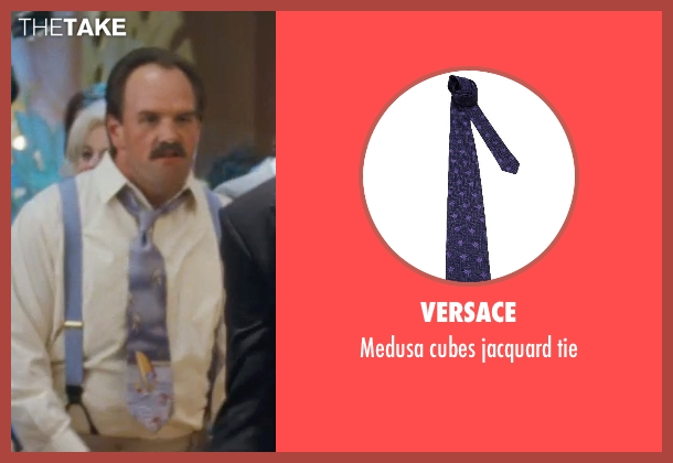 VERSACE purple tie from The Wolf of Wall Street seen with Ethan Suplee (Toby Welch)