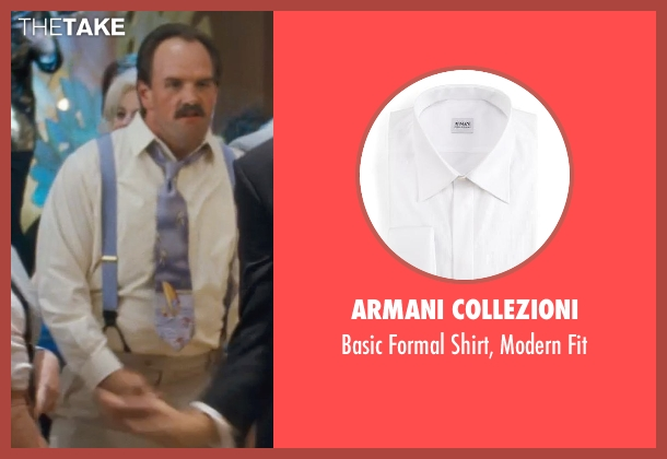 Armani Collezioni white fit from The Wolf of Wall Street seen with Ethan Suplee (Toby Welch)
