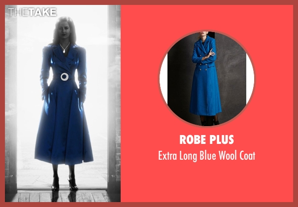 Robe Plus blue coat from Frank Miller's Sin City: A Dame To Kill For seen with Eva Green (Ava Lord)