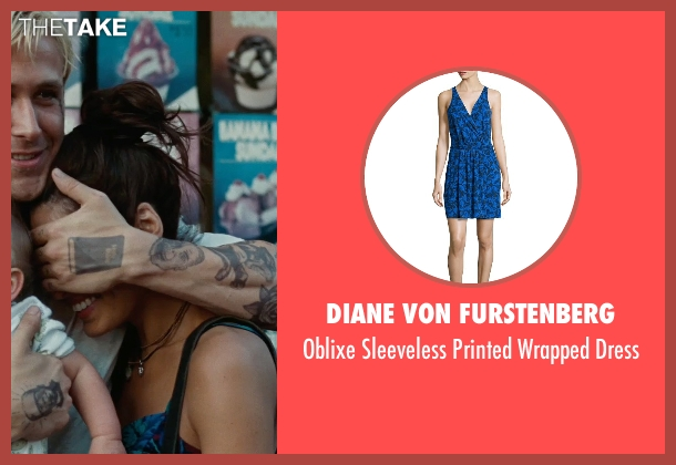 Diane Von Furstenberg blue dress from The Place Beyond The Pines seen with Eva Mendes (Romina)
