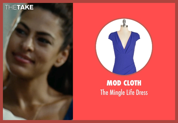 Mod Cloth blue dress from The Place Beyond The Pines seen with Eva Mendes (Romina)