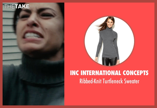 INC International Concepts gray sweater from The Place Beyond The Pines seen with Eva Mendes (Romina)