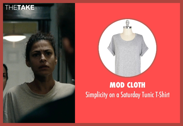 Mod Cloth gray t-shirt from The Place Beyond The Pines seen with Eva Mendes (Romina)