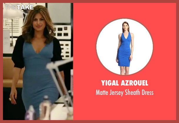Yigal Azrouel blue dress from The Women seen with Eva Mendes (Crystal Allen)
