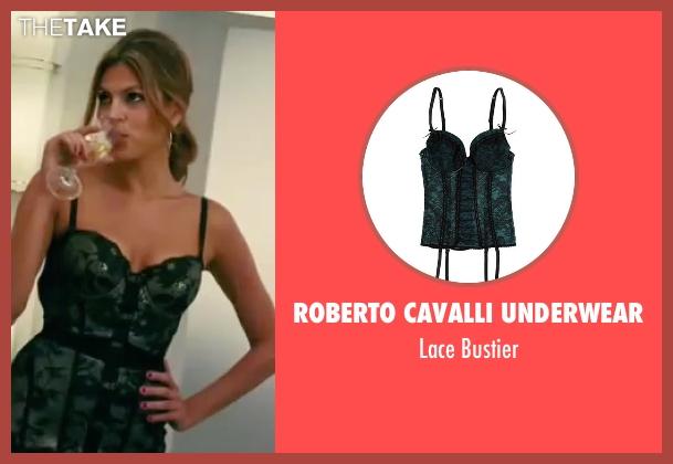 Roberto Cavalli Underwear green bustier from The Women seen with Eva Mendes (Crystal Allen)