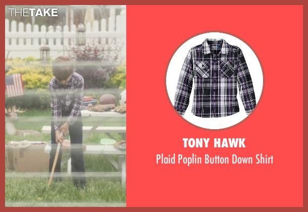 Tony Hawk purple shirt from Trainwreck seen with Evan Brinkman (Allister)