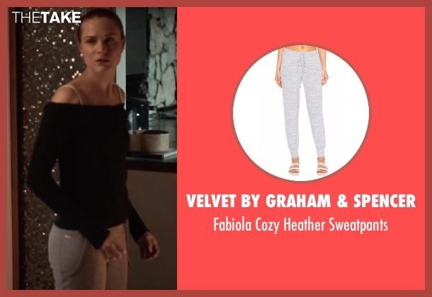 Velvet By Graham & Spencer gray sweatpants from Into the Forest seen with Evan Rachel Wood (Eva)