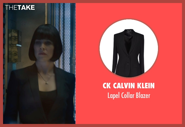 CK Calvin Klein black blazer from Ant-Man seen with Evangeline Lilly (Hope Van Dyne)