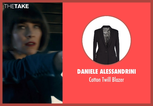 Daniele Alessandrini black blazer from Ant-Man seen with Evangeline Lilly (Hope Van Dyne)