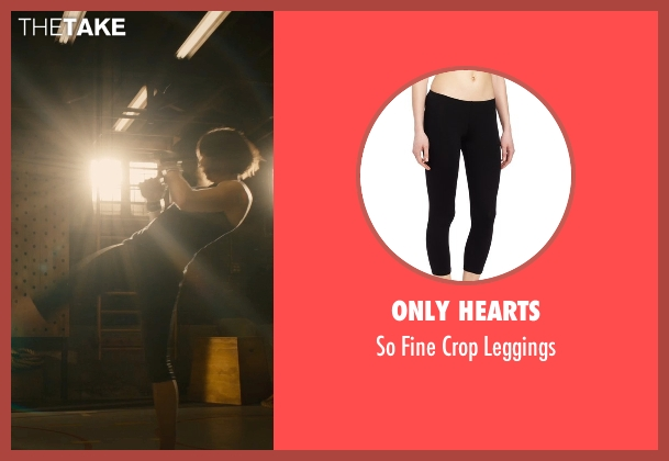 Only Hearts black leggings from Ant-Man seen with Evangeline Lilly (Hope Van Dyne)