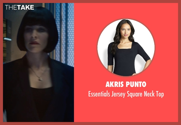 Akris Punto black top from Ant-Man seen with Evangeline Lilly (Hope Van Dyne)