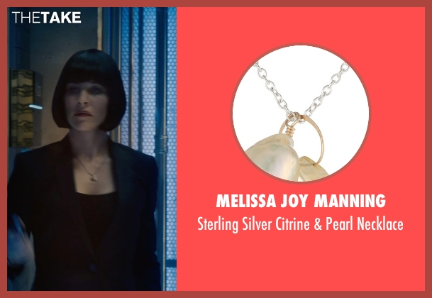 Melissa Joy Manning silver necklace from Ant-Man seen with Evangeline Lilly (Hope Van Dyne)