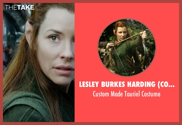 Lesley Burkes Harding (Costume Designer) costume from The Hobbit: The Battle of The Five Armies seen with Evangeline Lilly (Tauriel)