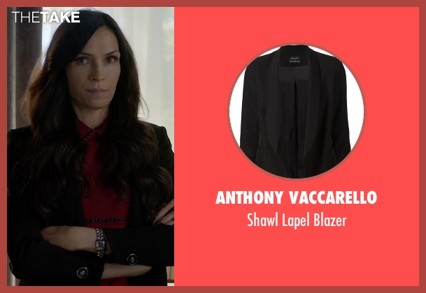 Anthony Vaccarello black blazer from How To Get Away With Murder seen with Eve Rothlow (Famke Janssen)
